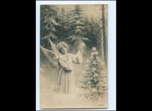 Y19284/ Weihnachten Mädchen als Engel Foto AK 1907