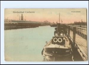 V1782/ Cuxhaven Fischereihafen AK 1909