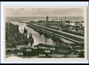 V1777/ Cuxhaven Fischmarktanlagen Hafen Foto AK 1939