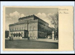 Y19354/ Braunschweig Das Theater Straßenbahn AK 1937