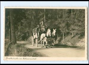 Y19377/ Postkutsche im Schwarzwald Foto AK ca.1935