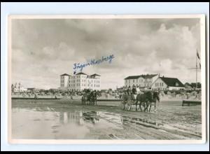 Y19311/ Cuxhaven Duhnen Wagenfahrt nach Neuwerk AK 1955