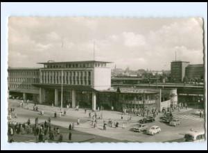 V1793/ Essen Hauptbahnhof Autos AK 1959