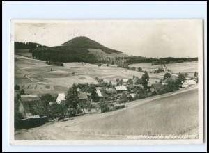 V1802/ Niederlichtenwalde mit der Lausche Foto AK Tschechien ca.1935