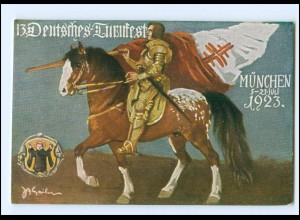 Y19326/ München 13. Deutsches Turnfest 1923 AK