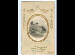 Y19300/ In Seide gewebt Namenstag AK Prägedruck 1911