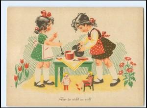 Y19230/ Erhard Schmidt AK Mädchen mit Puppen ca. 1955