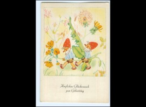 Y19234/ Hildegard Funck AK Geburtstag Zwerge 1943