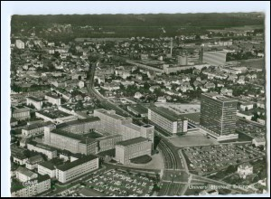 V1767/ Erlangen Luftbild AK 1965