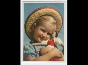 Y19255/ Hübsches Mädchen mit Puppe Nr. 1236 AK 50er