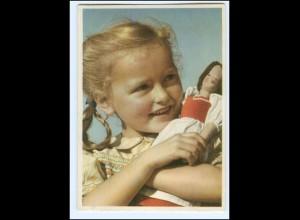 Y19256/ Hübsches Mädchen mit Puppe Nr. 1242 AK 50er