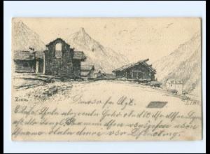 V1826/ Zinal Wallis Schweiz AK 1901 sign: M. Fitzer