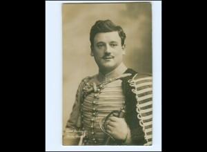 Y19483/ Paul Verheyn Schauspieler in Husaren-Uniform Foto Mocsigay Hamburg, AK
