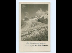 Y19406/ Morteratschgletscher Piz Bernina Foto AK 1929 Schweiz
