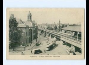 Y19421/ Rotterdam Station Beurs Bahnhof Straßenbahn AK ca.1912