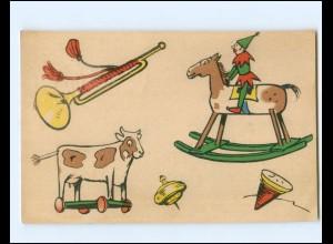 Y19481/ Spielzeug Schaukelpferd , Kreisel usw. AK 1913