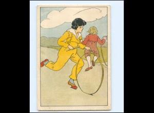Y19480/ Kinder spielen mit Reif AK ca.1920