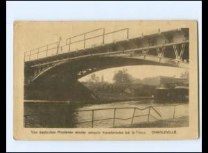 Y19425/ Charleville wieder erbaute Kanalbrücke bei le Theux 1. Weltkrieg AK