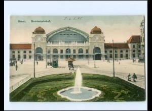 Y19433/ Basel Bahnhof Straßenbahn AK 1907
