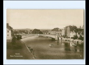 Y19443/ Kassel Neue Fuldabrücke Trinks Foto AK ca.1925