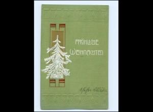 Y19457/ Weihnachten Tannebaum Prägedruck AK Jugendstil ca.1908