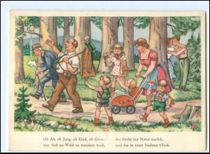Y19466/ Familie geht spazieren im Wald ca.1965