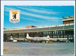 Y19472/ Flughafen Berlin Tempelhof 1965 AK British European Airways