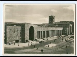 Y19476/ Stuttgart Hauptbahnhof Foto AK 1937