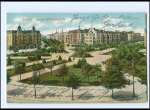 XX13756/ Stettin Kaiser Wilhelmplatz Pommern AK 1915