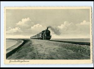 XX13760/ Hindenburgdamm Sylt Eisenbahn AK 1938