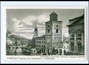 XX13771/ Warschau Krakauerstraße Straßenbahn AK 1941