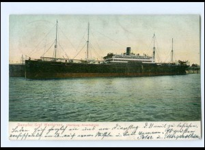 XX13785/ Dampfer Graf Waldersee Hamburg-Amerika-Linie AK 1908