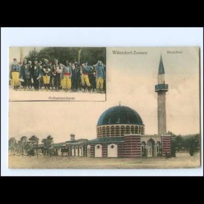 XX14083-158/ Wünsdorf - Zossen Moschee Mohemmedaner AK 1917