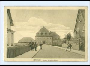 XX14088/ Marne Kaiser Wilhelm-Schule AK 1915 + Marine-Schiffsport Nr. 99