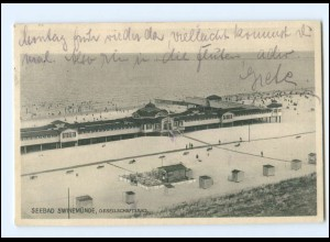 XX13993/ Swinemünde Gesellschaftsbad 1929 AK Pommern