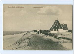 XX13995/ Ostseebad Groß-Möllen Mielno Strandpromenade Pommern AK ca.1910