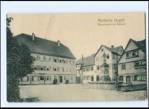 XX14002-7184/ Kirchberg (Jagst) Brunnenplatz Rathaus AK ca.1912