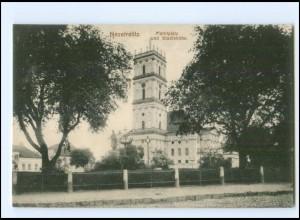 XX14035-172/ Neustrelitz Marktplatz und Stadtkirche AK 1916