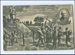 XX14043/ Hissen der dt. Flagge bei Antwerpen General v. Beseler 1. Welkrieg AK