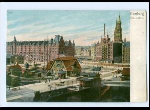 XX13867/ HamburgFreihafen Speicherstadt AK ca.1900
