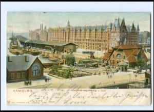 XX13869/ Hamburg Freihafen Lagerhäuser Speicherstadt AK 1903