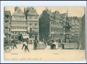 XX13872/ Hamburg Messberg Markthändler AK ca.1900