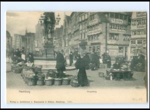 XX13873/ Hamburg Messberg Markthändler AK 1903