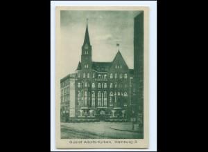 XX13875/ Hamburg Dietmar Koel-Str. 36 Gustav Adolfs-Kyrkan AK ca.1925