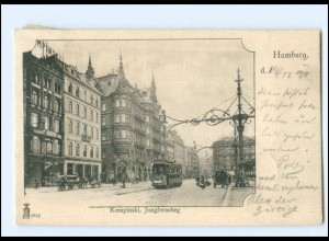 XX13877/ Hamburg Jungfernstieg Straßenbahn AK 1901