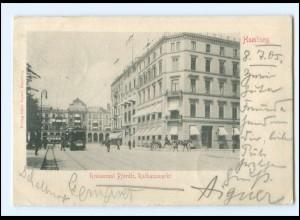 XX13880/ Hamburg Rathausmarkt Straßenbahn AK 1905