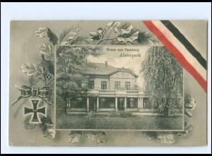 XX13881/ Hamburg Fuhlsbüttel Alsterpark 1. Weltkrieg Patriotik AK 1918