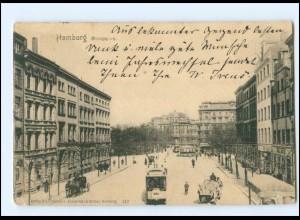 XX13922/ Hamburg St. Georg Georgsplatz Straßenbahn AK 1901