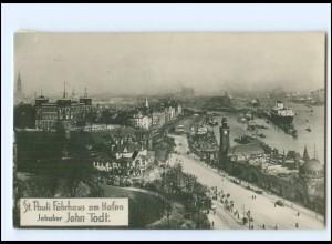 XX13918/ Hamburg St. Pauli Fährhaus am Hafen Foto AK 1929
