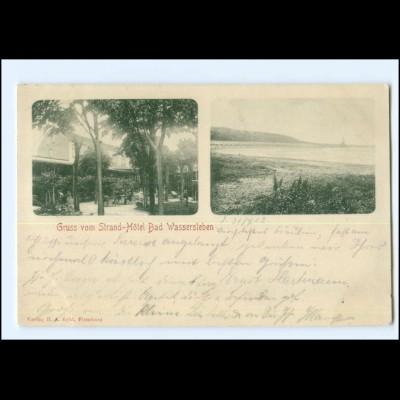 XX14074-2398/ Strand Hotel Bad Wassersleben bei Harrislee AK 1902